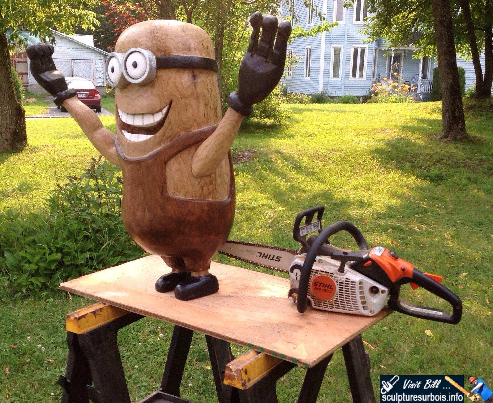 Pin ni chainsaw carving art bill sculpturesurbois