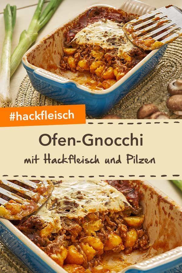 mit Pilzen Ofen-Gnocchi mit Hackfleisch und Pilzen werden deine Familie begeistern. Ein herzhaftes Gericht für ein leckeres Abendessen! Ofen-Gnocchi mit Hackfleisch und Pilzen werden deine Familie begeistern. Ein herzhaftes Gericht für ein leckeres Abendessen!