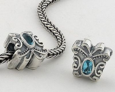 "Amazon.com: 925 Sterling Silver ""Butterfly with Light Aquamarine CZ Czech Crystal March Birthstone"" Charms/beads for Pandora, Biagi, Chamilia, Troll and More Bracelet: Jewelry"