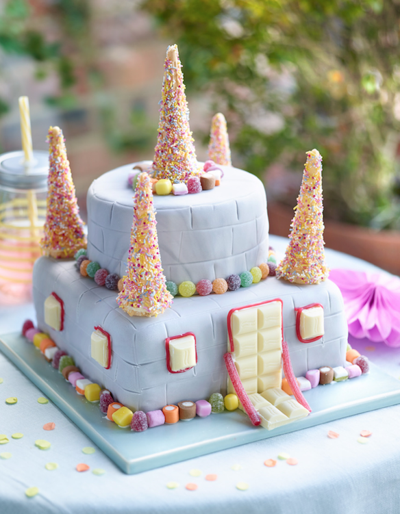 Pleasant Candy Castle Cake Recipe Cake Castle Birthday Cakes Girl Cakes Funny Birthday Cards Online Alyptdamsfinfo
