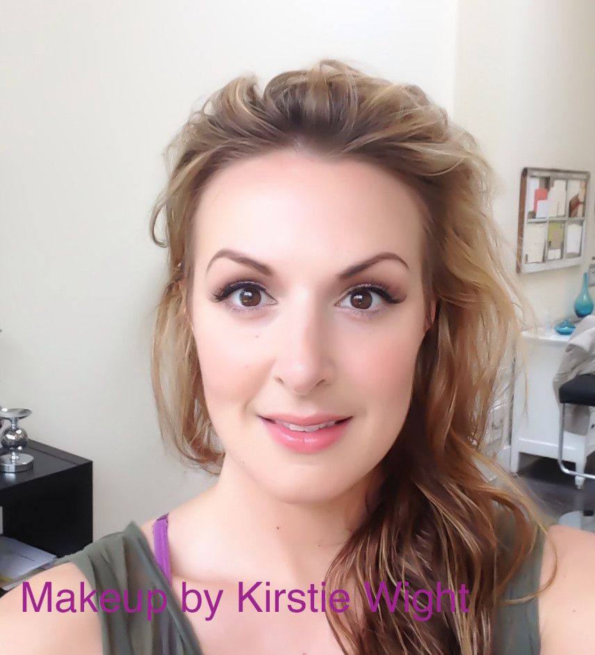 2b5db40bb0c I went for my wedding makeup trial run. You girls are AMAZING. I ve never  felt prettier. (Pardon the doe-eyed idiot stare!)