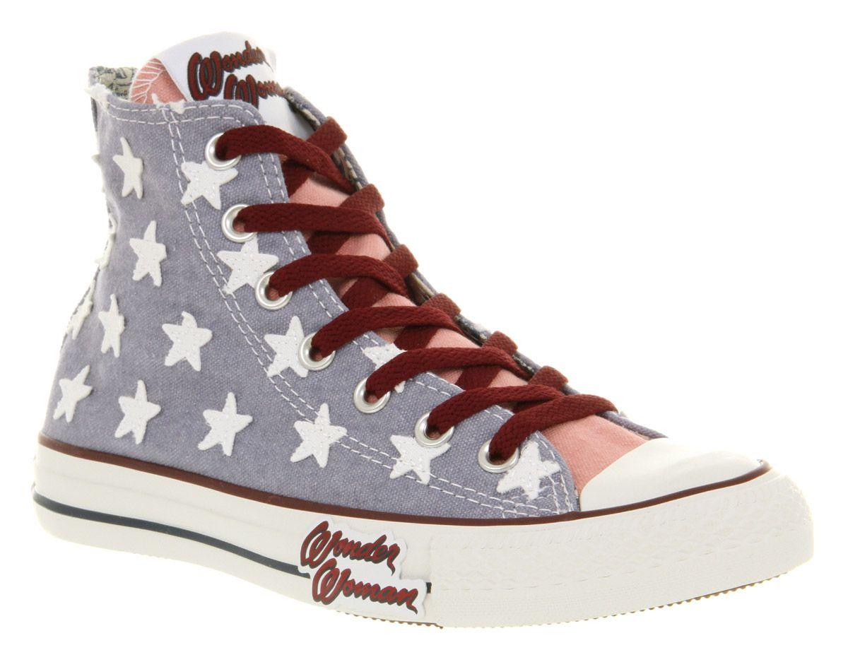 f24da5de0ba8 Converse All Star Hi Wonder Woman Trainers Shoes