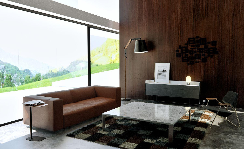 Prostoria Polygon Fauteuil : Fauteuil de salon polygon canapé places match l design
