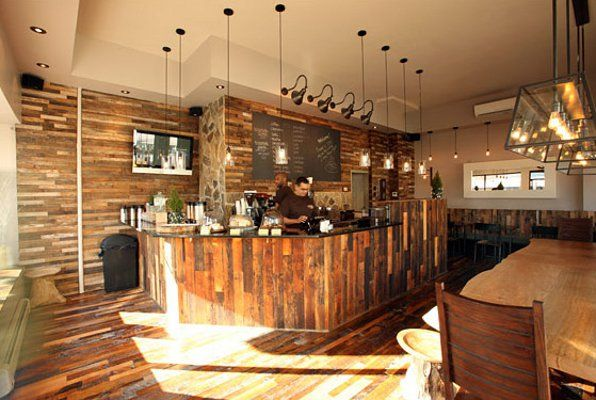 This NYC cafe used Grandma's Attic reclaimed softwoods with reclaimed  pickle vat stock for flooring and - This NYC Cafe Used Grandma's Attic Reclaimed Softwoods With