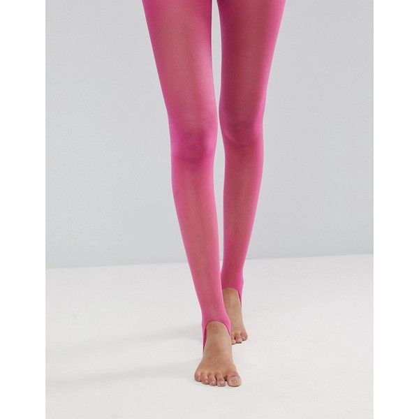 ad29d8ee7ed70 ASOS 15 Denier Sheer Stirrup Tights In Magenta ($8) ❤ liked on Polyvore  featuring intimates, hosiery, tights, pink, semi sheer tights, high rise  tights, ...