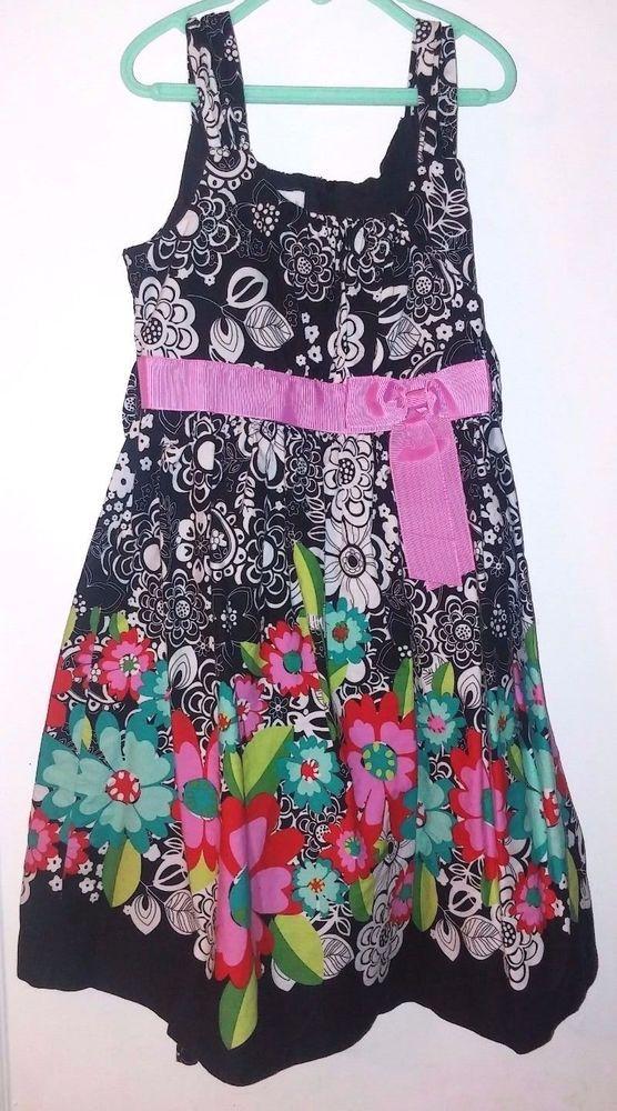 d4487aefa33b Bonnie Jean 100% Cotton Multi-Color Flower Print Girls Party ...