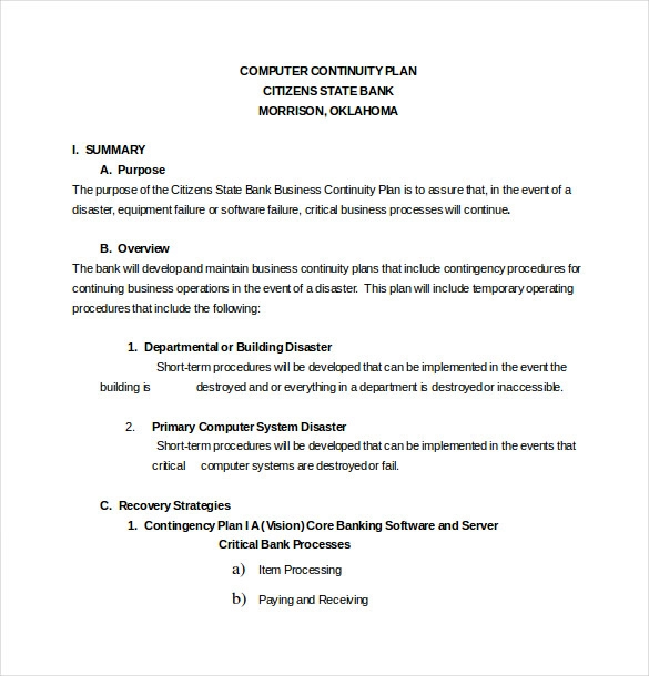 12 Contingency Plan Templates How To Plan Business Contingency