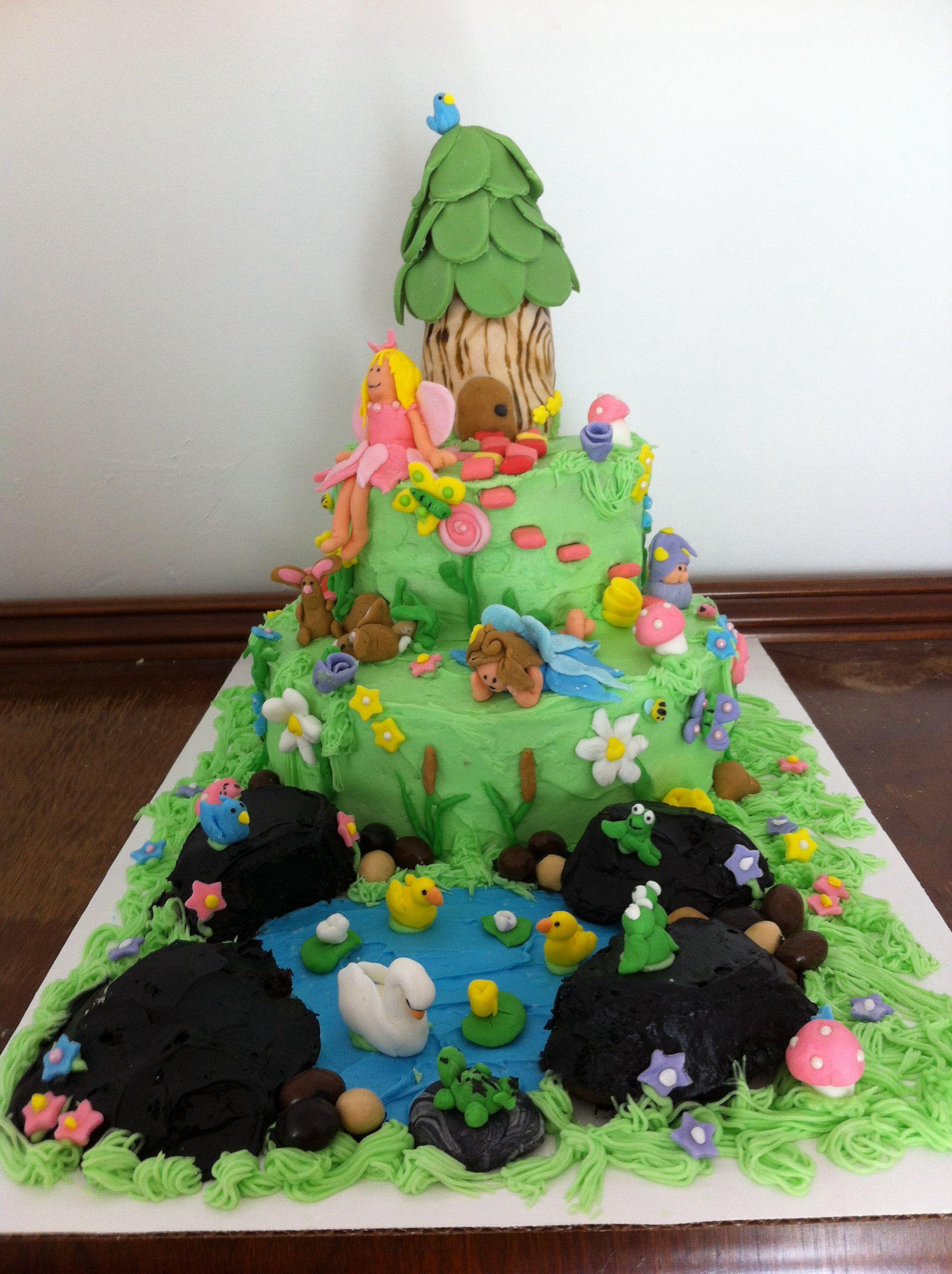 Fairy garden cake | Fairy garden cake, Garden cakes, Cake