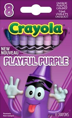 Shades Of Purple Crayon Box