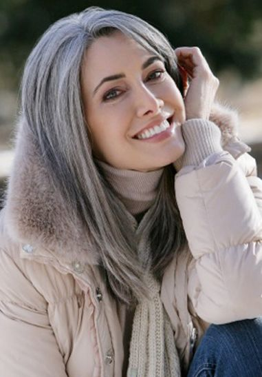 It's best to plan for how to deal with eventually going gray / whit. I would have no qualms if I could look like this beauty -- Manon Crespi