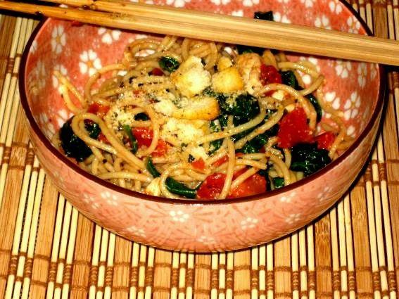 tomato spinach pasta -Recipe