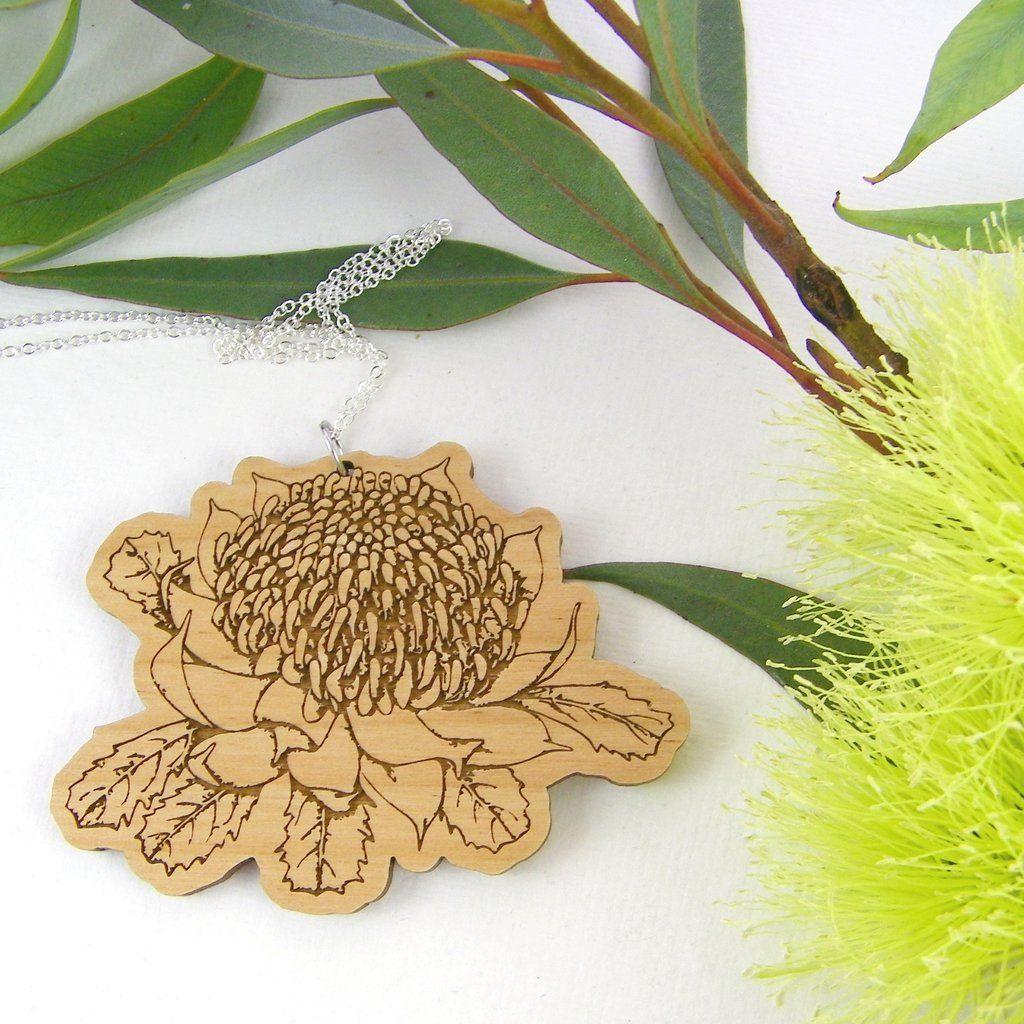 Australian Flora Waratah Necklace Australian Flora Flora Handmade