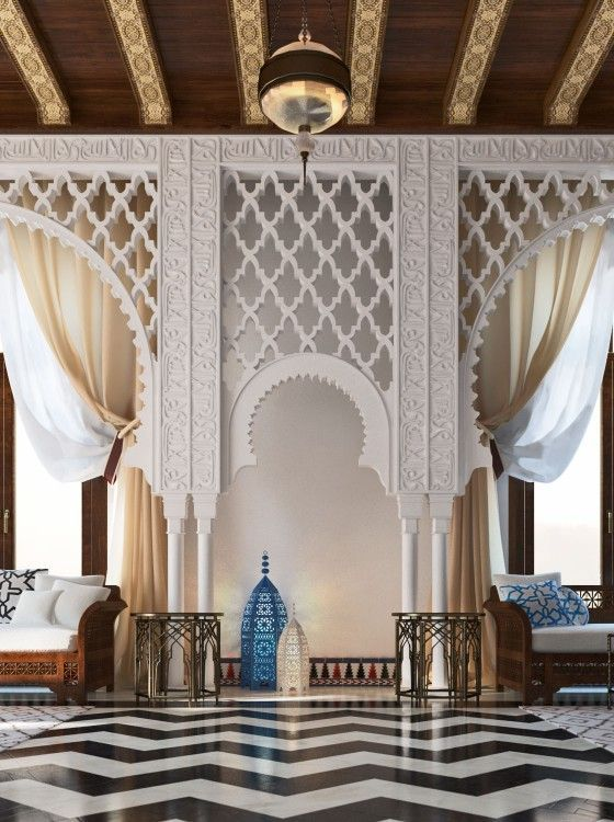 Mimar interiors arabic design oriental islamic style for Arabic interiors decoration