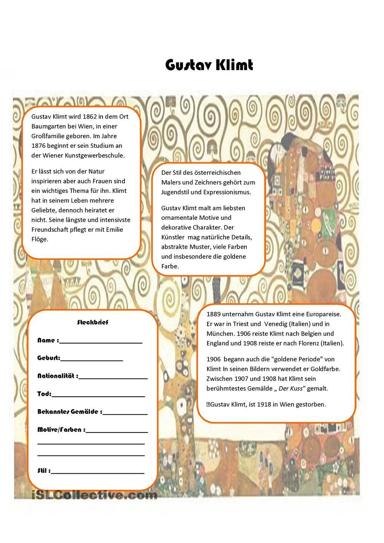 Gustav Klimt | Bildung und Deutsch