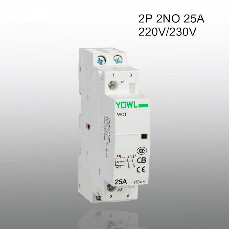 2p 25a Ct1 220v 230v 50 60hz Din Rail Household Ac Contactor 2no Household Locker Storage Dinning