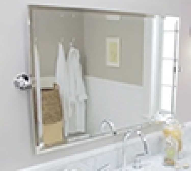 Kensington Pivot Wide Rectangular Mirror Master Bathroom