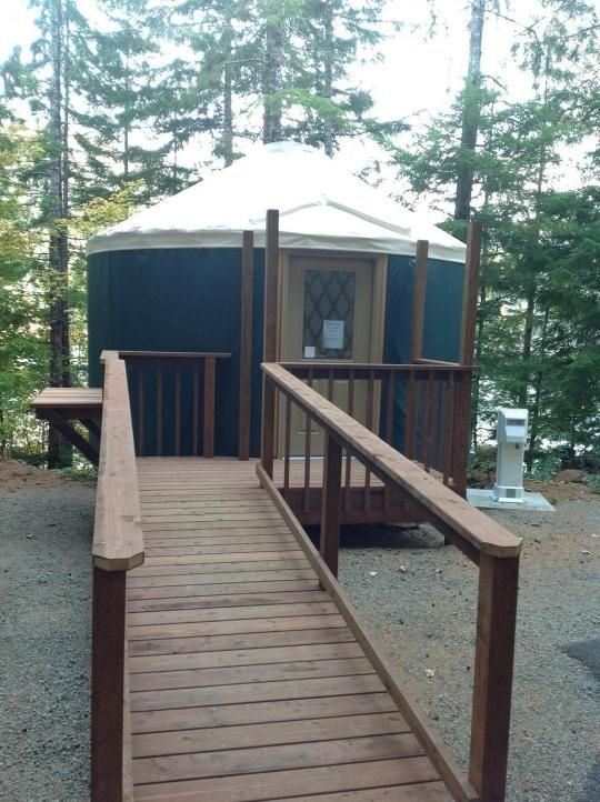 Coho campground photo yurt 03 walk in places to camp for Cabin rentals olympic national forest