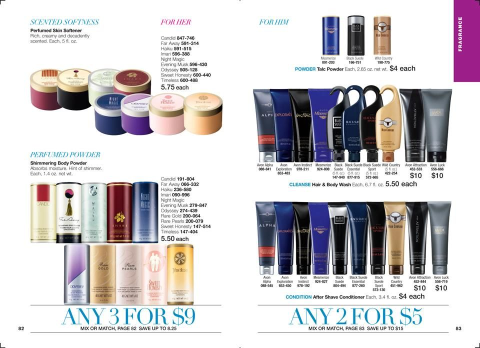 All your favorite fragrances at a great price!