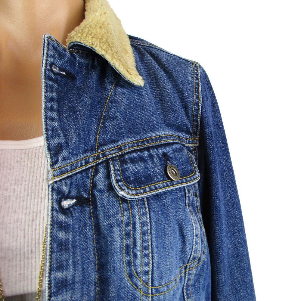 463c26bc3bd Tommy Hilfiger Denim Jean Jacket Size Small S Womens Sherpa Lined Trucker  Coat  TommyHilfiger  JeanJacket  Casual