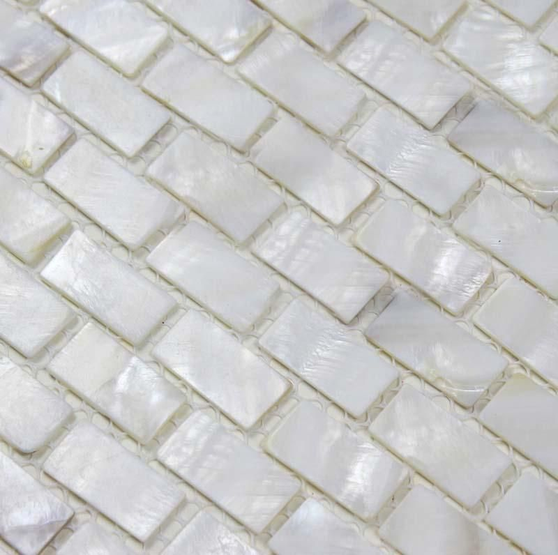 Mother Of Pearl Tile Backsplash White