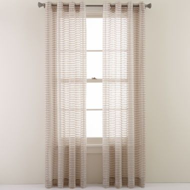 Studio™ Rizzo Grommet-Top Sheer Curtain Panel  found at @JCPenney