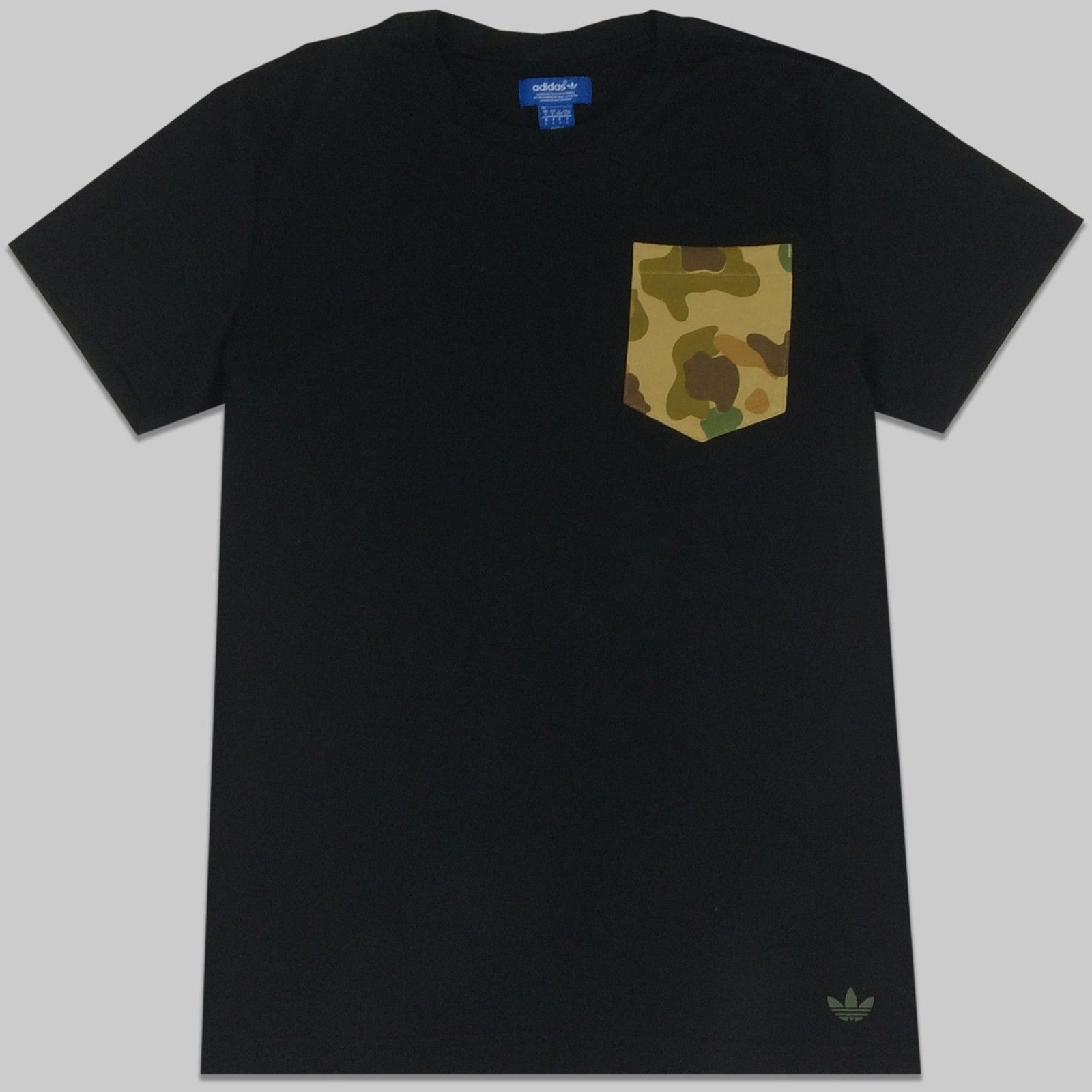 adidas Originals Mens Camo Pocket Tee | T Shirt | Trefoil | G86341 |