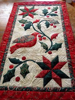 Karen S Quilts Crows And Cardinals Christmas Quilt