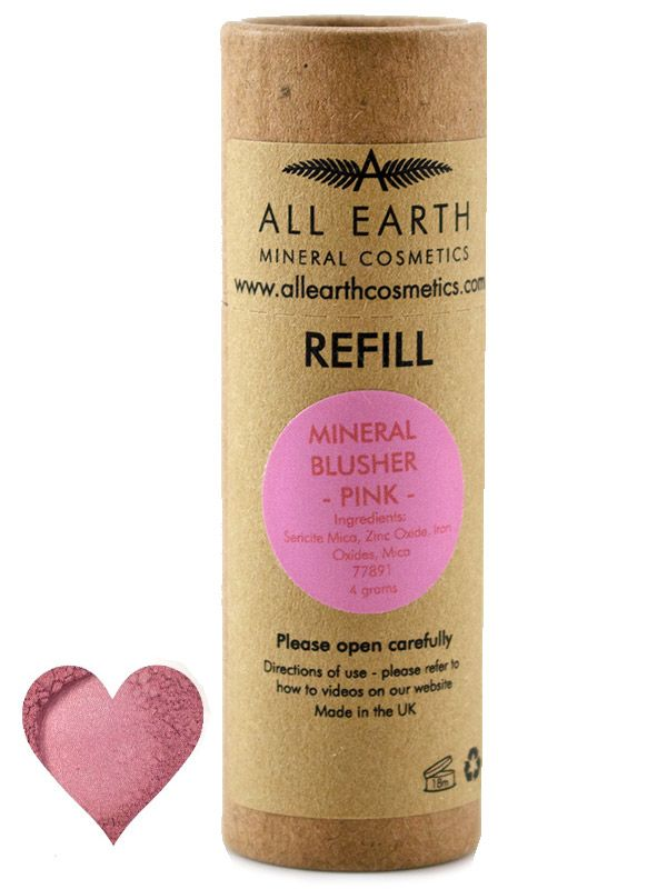 Mineral Blusher Pink, Refill 4g (All Earth Mineral Cosmetics)