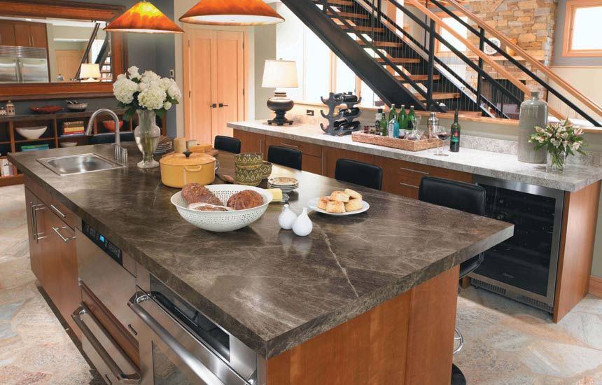 Formica That Looks Like Soapstone Or Slate Sequoia Laminate Kitchen Countertop