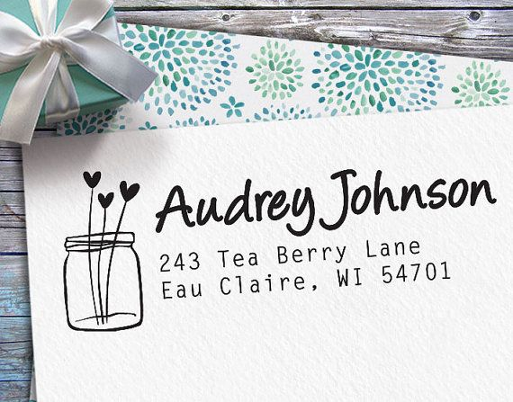 Personalized Return Address Stamp  Custom Rubber by FunStampCraft