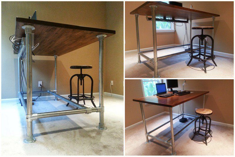 Jeff used a fairly straight forward design for the desk including