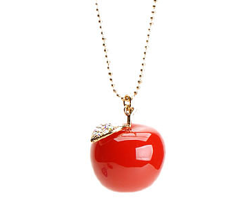 Betsey johnson charms apple pineapple apple charm pendant betsey johnson charms apple pineapple apple charm pendant necklaces love maegan mozeypictures Image collections