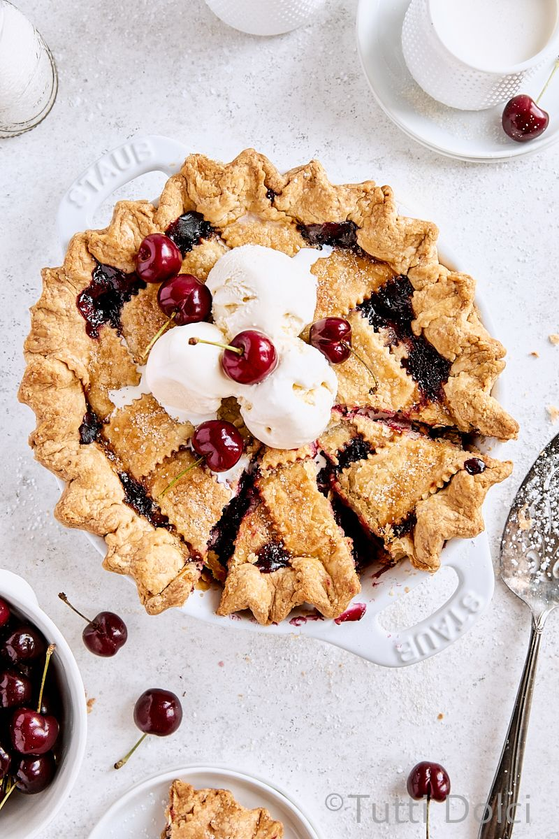 classic cherry pie   Tutti Dolci