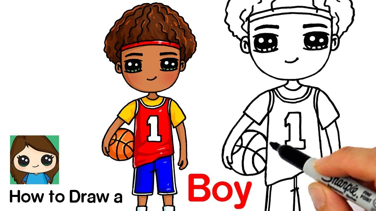 How To Draw A Boy Basketball Player Cute Kawaii Drawings Cute Drawings Drawings