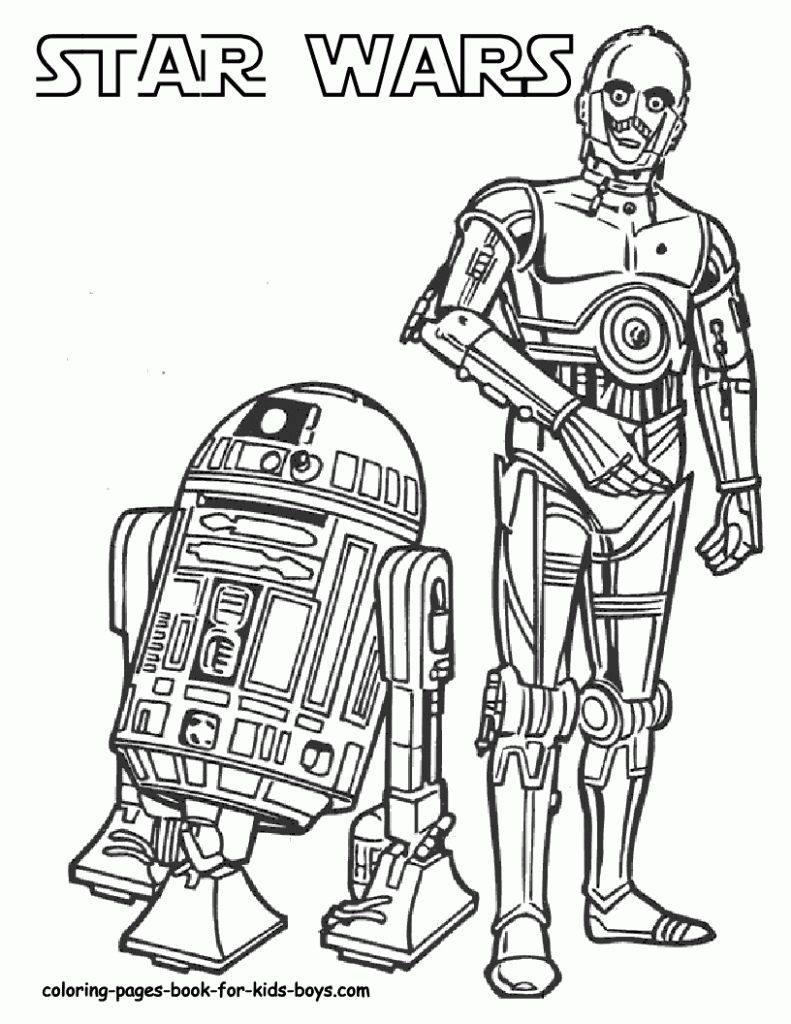 R2d2 And C3po Coloring Pages Star Wars Coloring Star Wars | Star ...