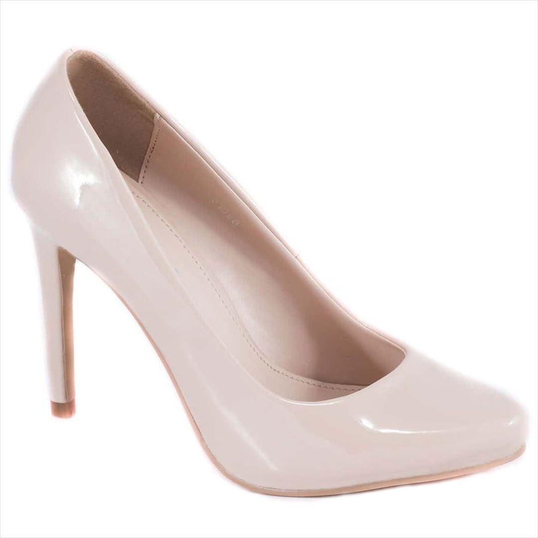 Pantofi nude cu toc 51598N - Reducere 60% - Zibra