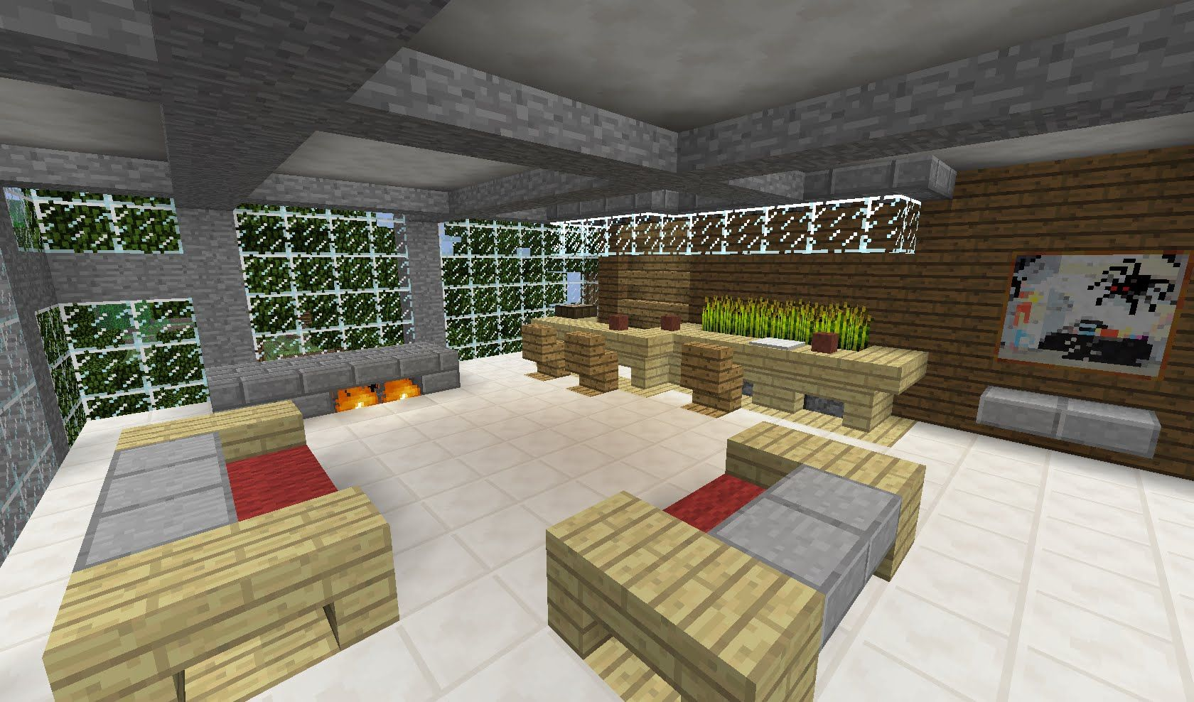 Heres A Video With Terriffic Ideas For Decorating Your Minecraft Living Room