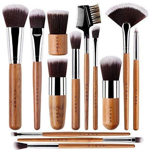 Bamboo CrueltyFree Vegan Makeup Brushes Professional Set