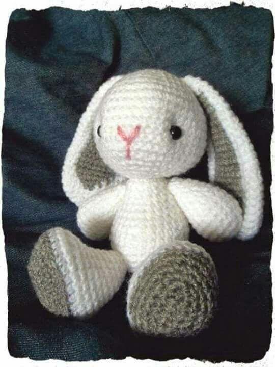 Conejito | Patrones tejido y telas | Pinterest | Conejo, Tejido y ...