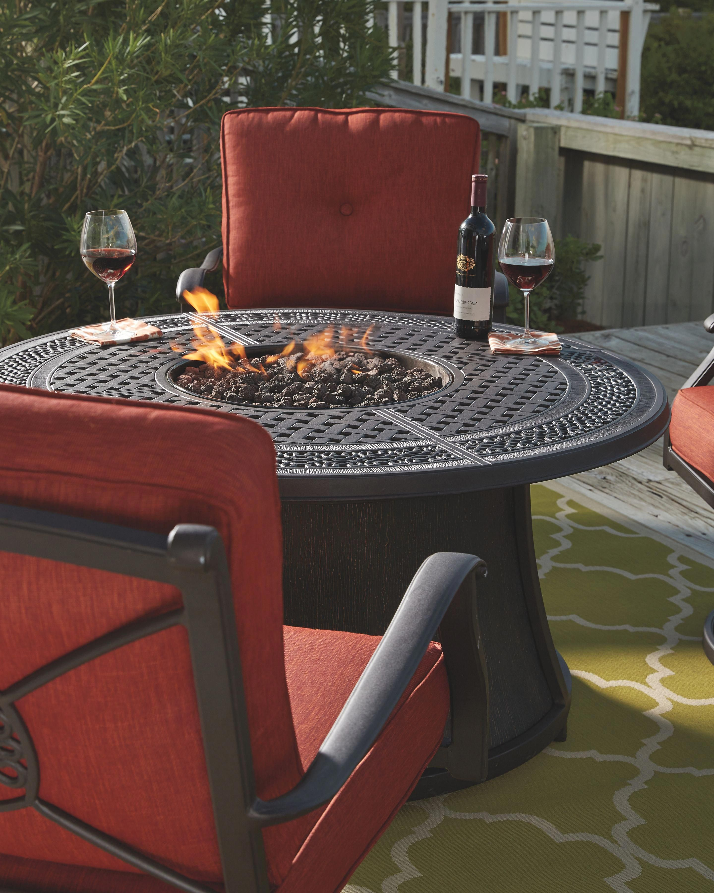 Burnella 5 Piece Outdoor Fire Pit Conversation Set Outdoor Fire Fire Pit Table Outdoor Fire Pit