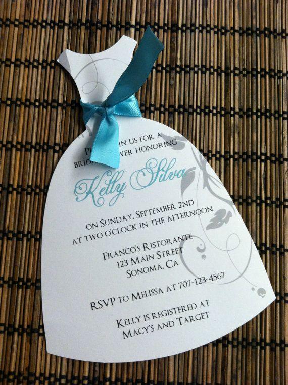 Wedding Dress Bridal Shower Invitation By Alisamariedesigns 1 50