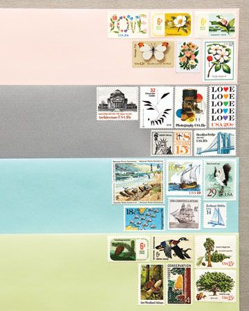 Stamps For Wedding Invites. Some Beauties Here, Courtesy Of Martha Stewart  Weddings.