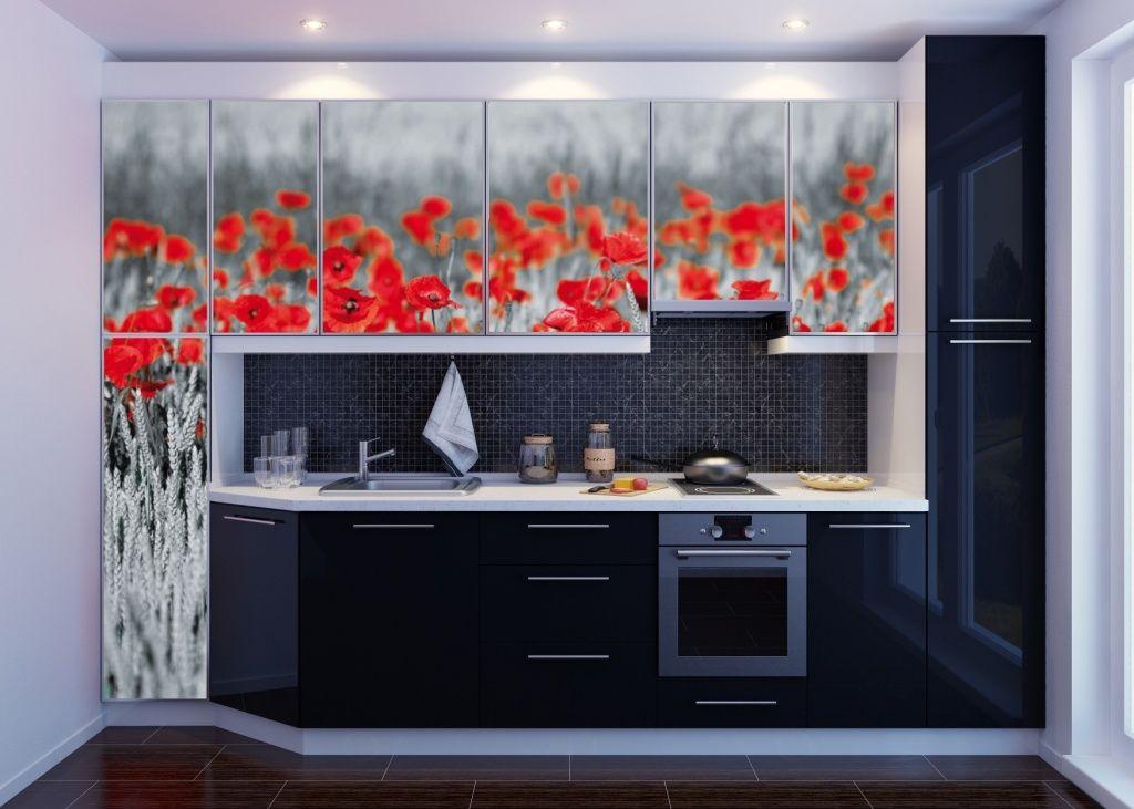 Kuchnia pięknie urządzona fototapetą samoprzylepną #fototapety - glasbilder küche spritzschutz