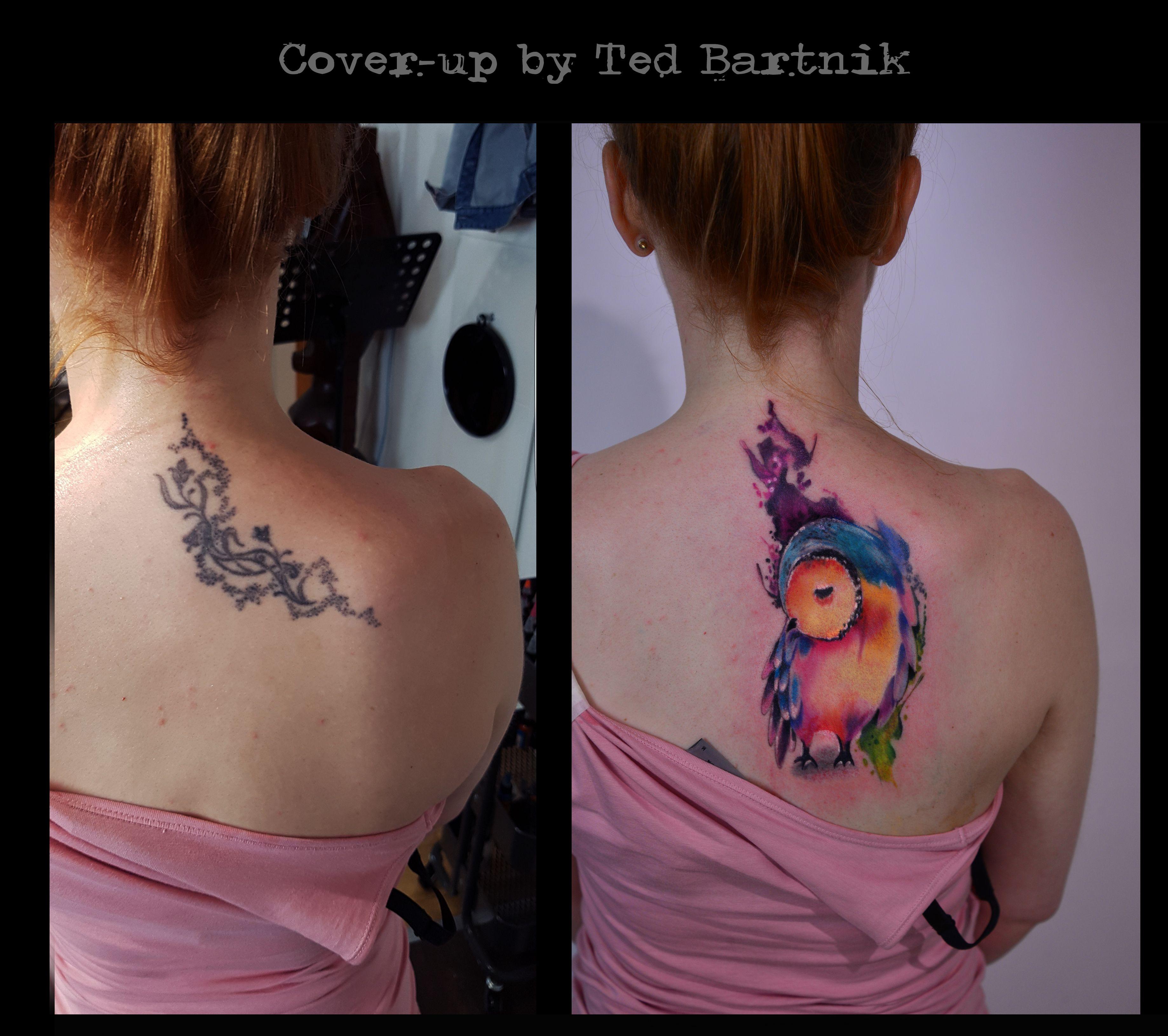 Watercolor Eule Tattoo Wattercolour Owl Tattoo Aquarell Tattoo