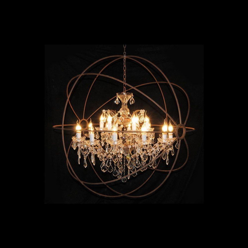 Medium Chandelier Gyro Crystal Timothy Oulton