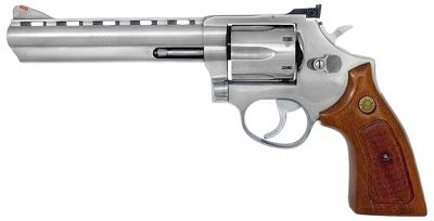 Taurus Model 689 Stainless Steel revolver  357 Magnum for the zombie