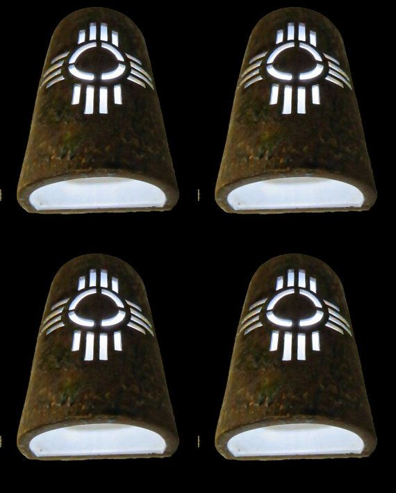 New Mexico Symbol Outdoor Wall Sconce Southwestern Lighting Santa Fe Style Lighting Southwestern Decorating Outdoor Wall Lights Southwestern Wall Sconces