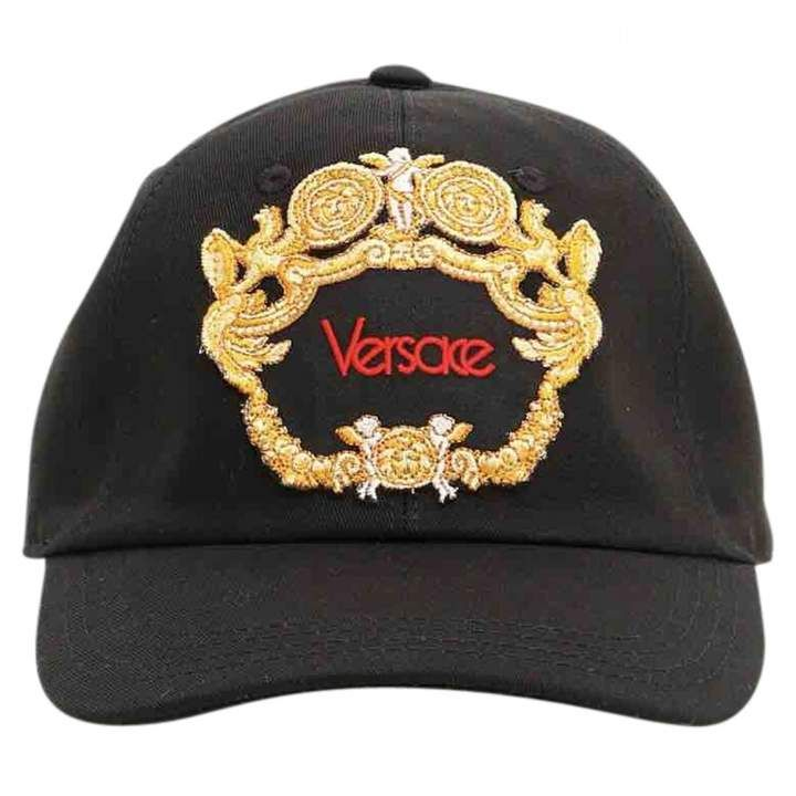 e6c98e24 Versace Black Cloth Hats & pull on hats in 2019 | Gorras | Baseball ...