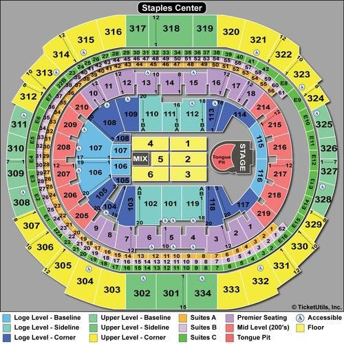 Seating Chart With Rows For Concerts Staples Center Staples Center Pittsburgh Penguins Pepsi Center