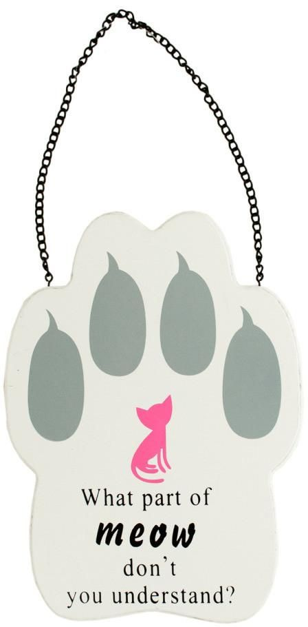 Cat Paw Print Wall Sign - 12 Units